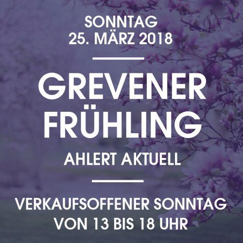 Modehaus Ahlert Verkaufsoffener Sonntag Grevener Fruehling